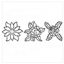 Stencil Fleurs